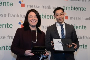 Bundeswirtschaftsminister Philipp Rösler (FDP) und die französische Handwerksministerin Sylvia Pinel. Foto: Messe Frankfurt 2013
