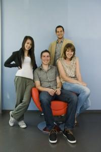Das Hotelcard-Team mit Désirée Aegerter, Pascal Altermatt, Fabio Bolognese und Romina Pretto v.l.n.r.