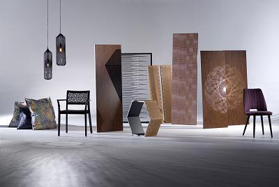 KTI-Projekt «Interior-Stickereien» mit textilen und nicht-textilen Anwendungen. (Foto: Johannes Eisenhut)