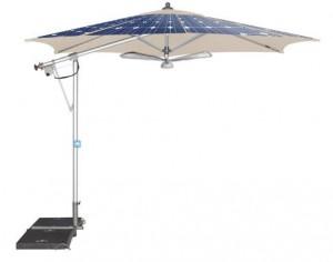Sonnenschirm mit Solarbetrieb