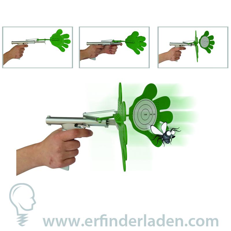 das lustige Sportgerät Fliegenklatsche FlyPistol Euer Jagdfieber wird geweckt
