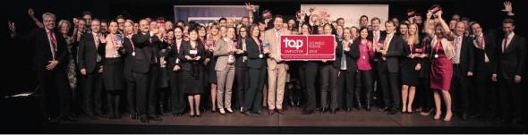 Die diesjährigen Top Employer Schweiz/Suisse 2014 wurden am 20. Februar 2014 im Rahmen eines Certification Dinners des Top Employers Institute in Zürich offiziell bekanntgegeben. Fotograf Florian Grob, Copyright: Top Employers Institute 2014.
