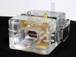 Prototyp der metallorganischen Brennstoffzelle (Bild: Peter Rüegg / ETH Zürich)