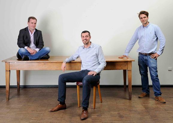 Die Inhaber: Raoul Schmidiger, Matthias Linherr und Fabio Dubler.