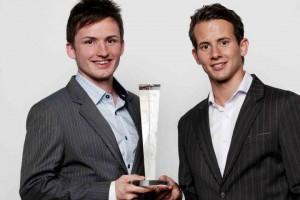 David Bachmann (l.) und Marc Massenz, die Gewinner des STARTUPS.CH AWARDS 2011