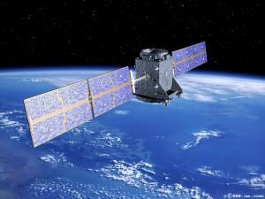 GIOVE-A über der Erde - künstlerische Darstellung (Bild: ESA)