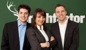 Die drei Gründungsmitglieder von Hirschfactor, Fabio Magagna, Crista Henggeler und Kai Eberhardt.