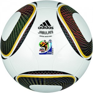 Der offizielle Spielball JABULANI für die Fussballweltmeisterschaft 2010.