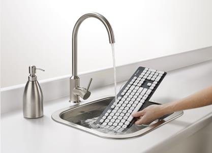 Die Erfinder Tastatur Logitech K310 lässt sich abwaschen