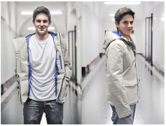 Mario Stucki hat im Rahmen seiner Masterarbeit eine fluorfreie Outdoor-Jacke entwickelt. (Bild: Josef Kuster / ETH Zürich)