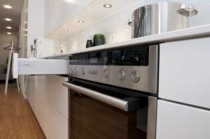 Detailansicht der Forster Küche PUR11 im Energieeffizienz-Haus.