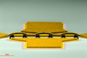 Übersicht eines HEMTs mit 6 Steuerelektroden. (Bild: Andreas Alt)