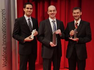 Vodafone-Preisträger 2010: Jochen Mahadevan, Helmut Bölcskei und Joachim Sachs (v.l.n.r.)